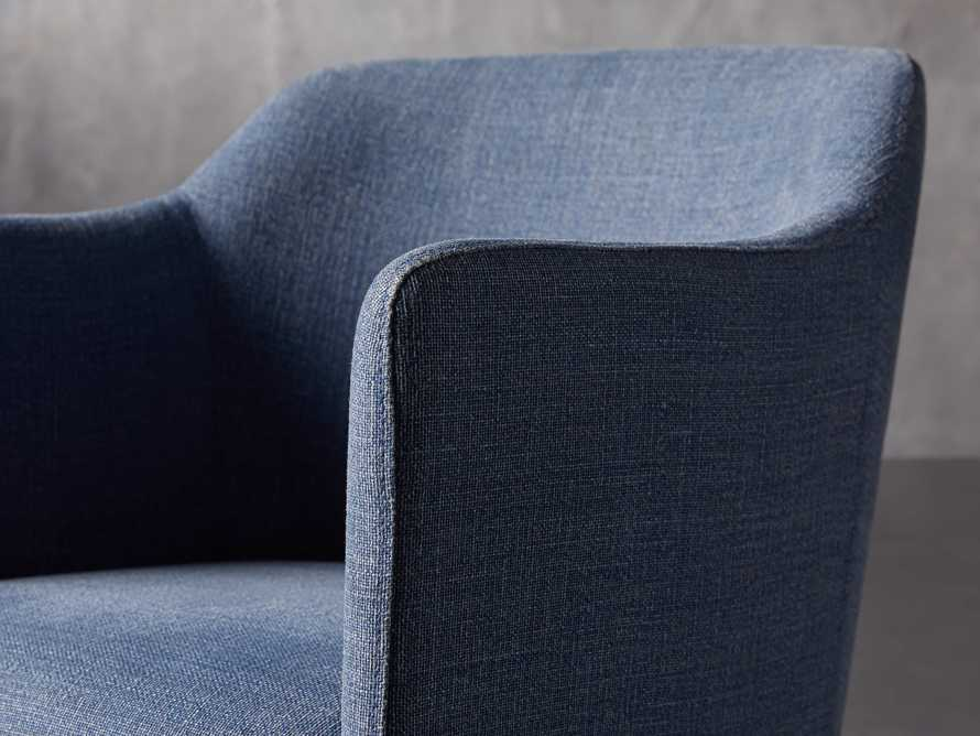 """Lain 22"""" Desk Chair in Indigo Linen, slide 7 of 10"""