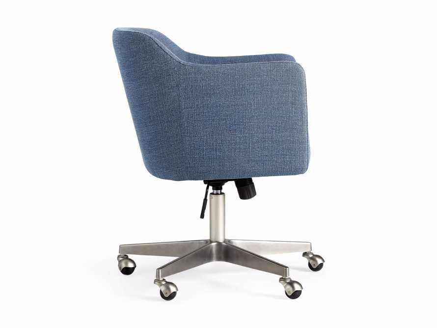 """Lain 22"""" Desk Chair in Indigo Linen, slide 10 of 10"""