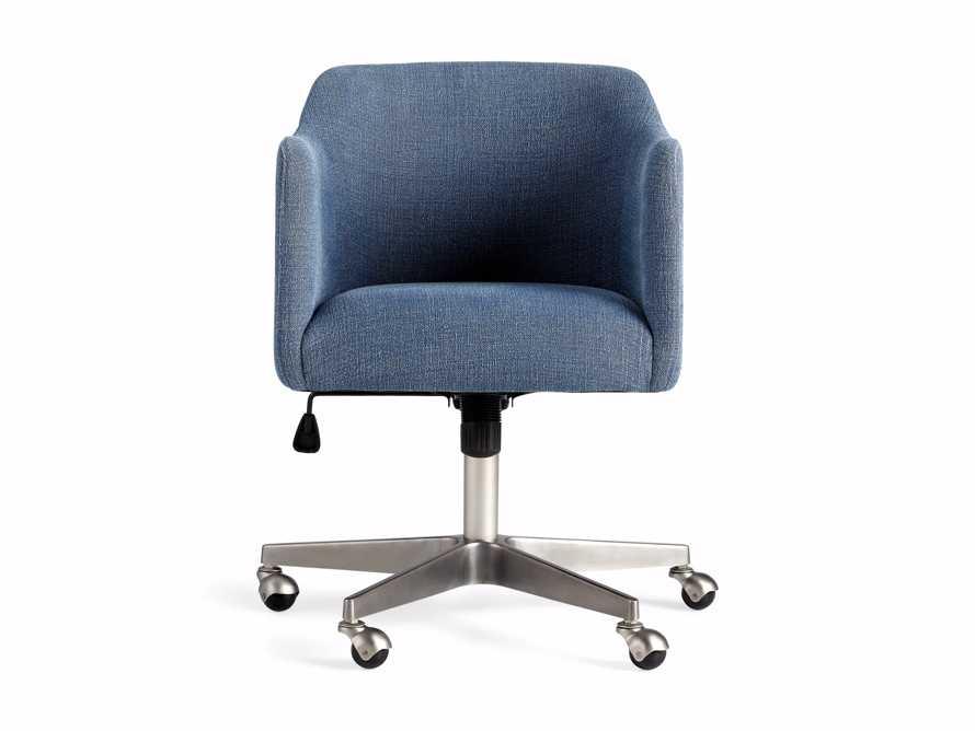 """Lain 22"""" Desk Chair in Indigo Linen, slide 9 of 10"""
