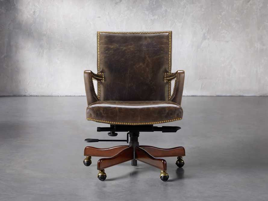 Martello Desk Chair in Brown, slide 1 of 4