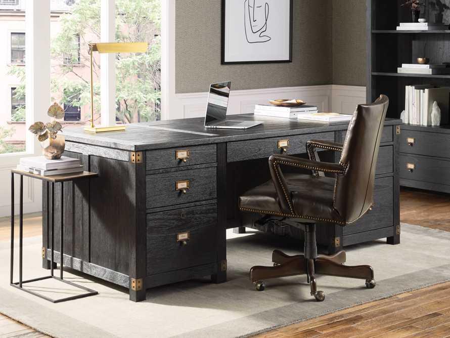Martello Desk Chair in Brown, slide 1 of 5
