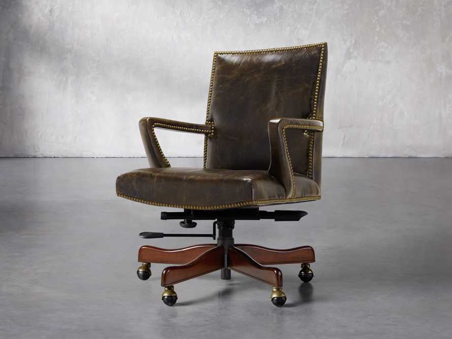 Martello Desk Chair in Brown, slide 2 of 4