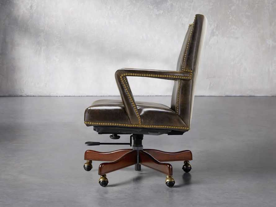 Martello Desk Chair in Brown, slide 3 of 4