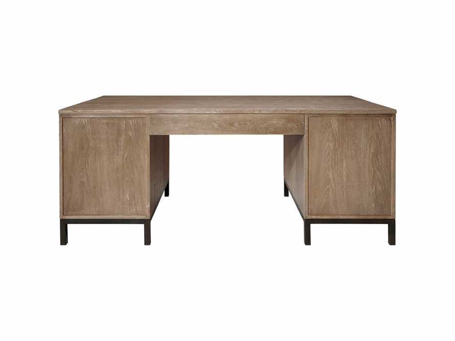 Palmer Executive Desk in Natural Oak