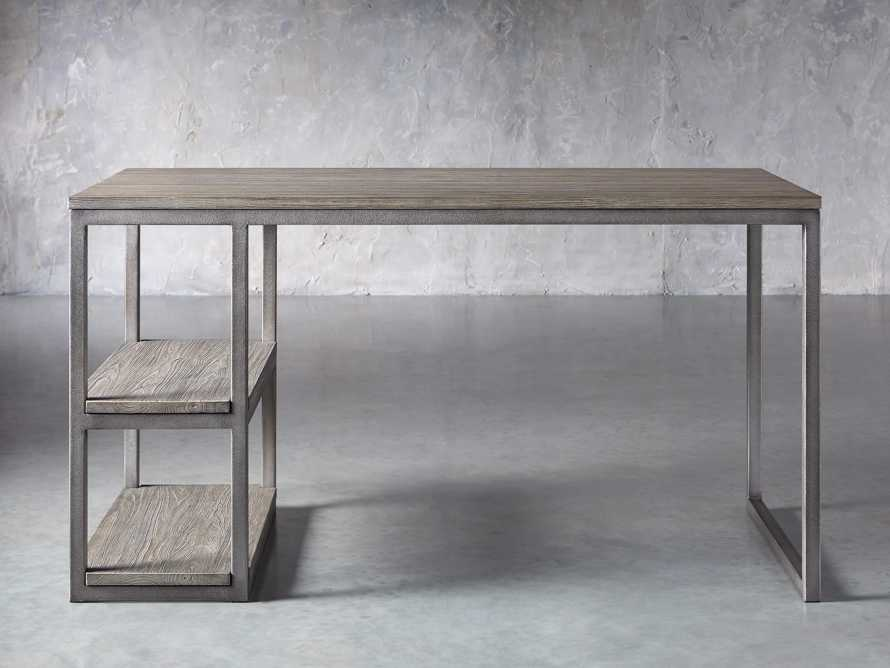 "Palmer 58"" Desk in Stone on Ash, slide 1 of 10"