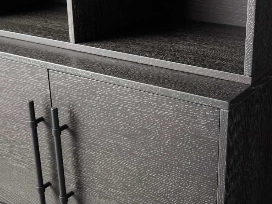 "Sullivan 38"" Single Bookcase with Two Door Cabinet Base in Grey"