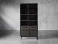"Sullivan 38"" Single Bookcase with File Base in Grey"