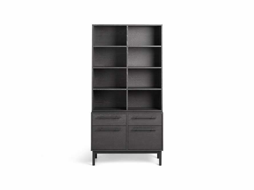 "Sullivan 38"" Single Bookcase with File Base in Grey, slide 7 of 8"