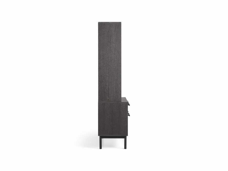 "Sullivan 38"" Single Bookcase with File Base in Grey, slide 8 of 8"
