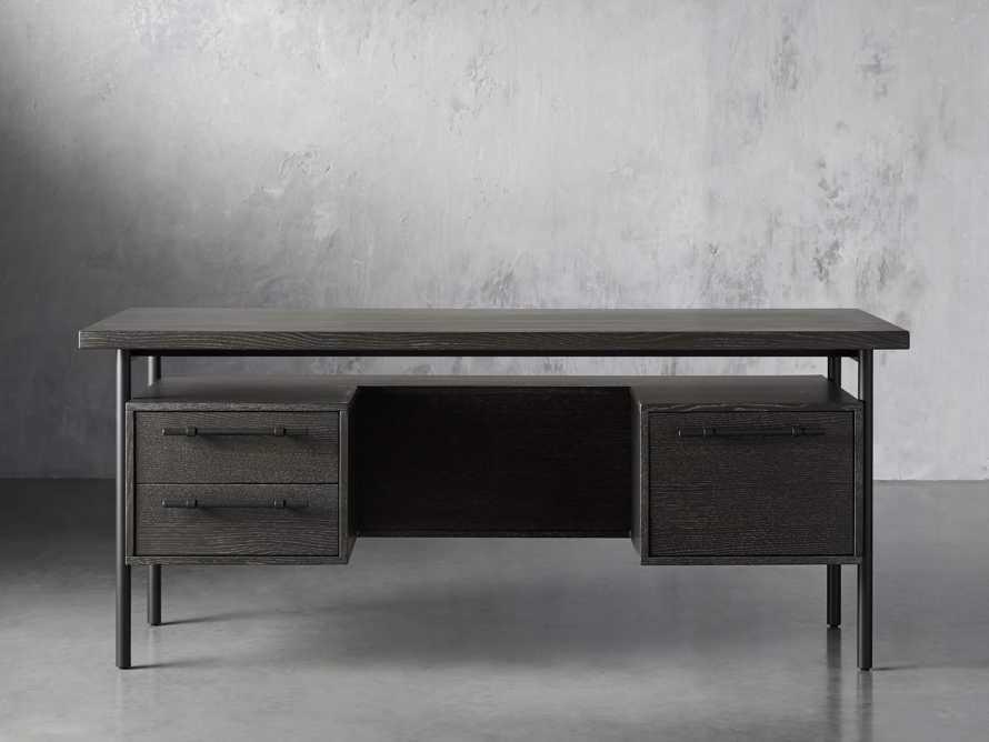 "Sullivan 71"" Executive Desk in Grey, slide 1 of 10"