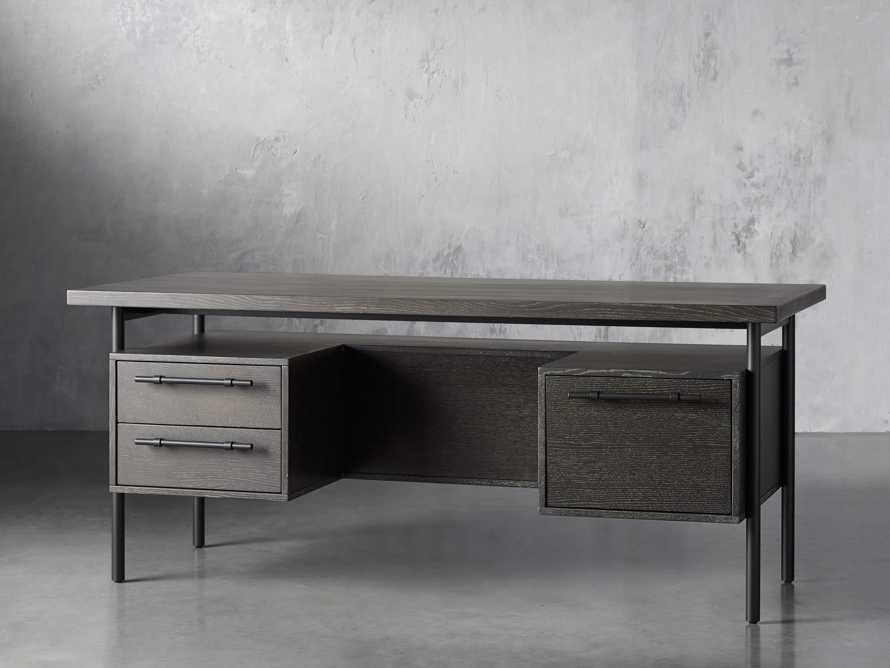 "Sullivan 71"" Executive Desk in Grey, slide 2 of 10"