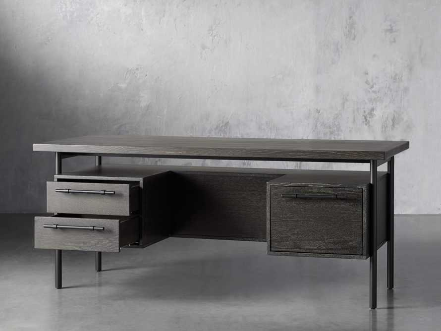 "Sullivan 71"" Executive Desk in Grey, slide 3 of 10"