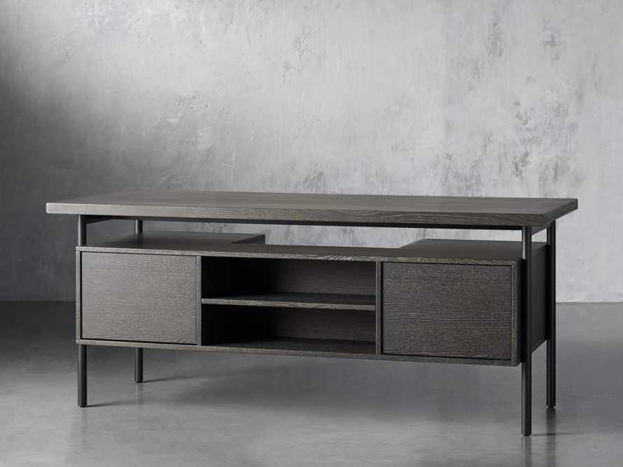"Sullivan 71"" Executive Desk in Grey, slide 5 of 10"