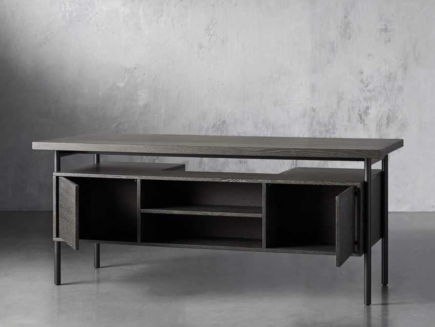 "Sullivan 71"" Executive Desk in Grey, slide 6 of 10"