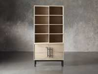 "Sullivan 38"" Single Bookcase with Two Door Cabinet Base in Northman Sable"