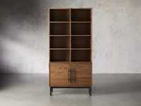 """Sullivan 38"""" Single Bookcase with Two Door Cabinet Base"""