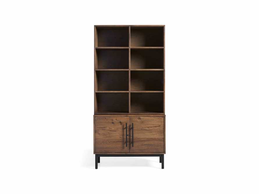 "Sullivan 38"" Single Bookcase with Two Door Cabinet Base"