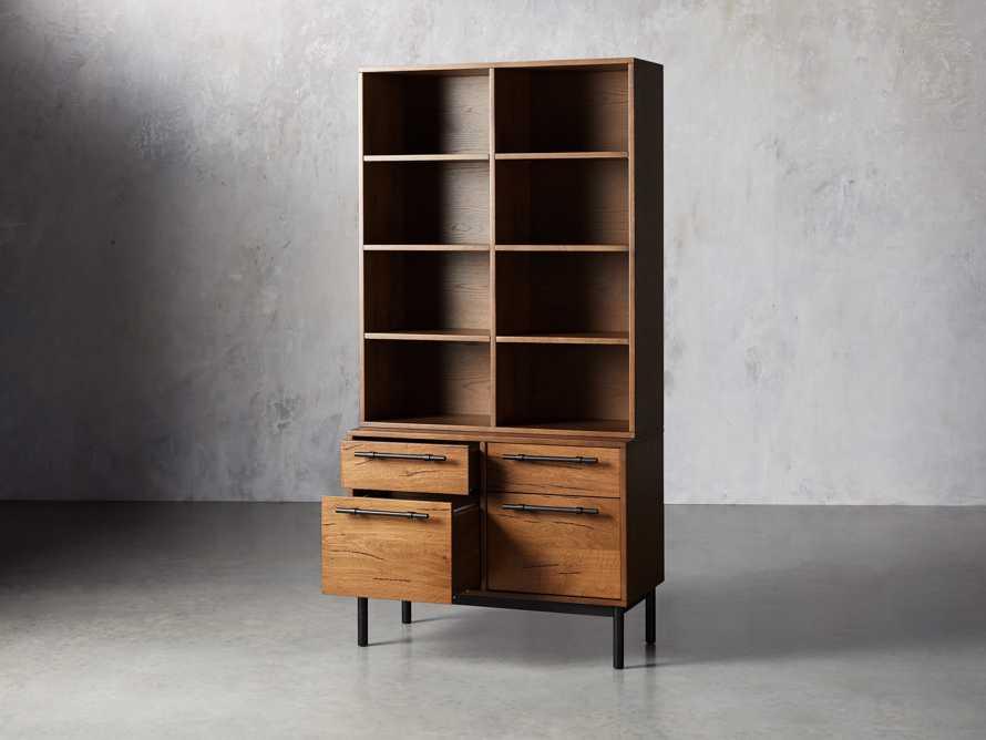 "Sullivan 38"" Single Bookcase with File Base, slide 3 of 7"