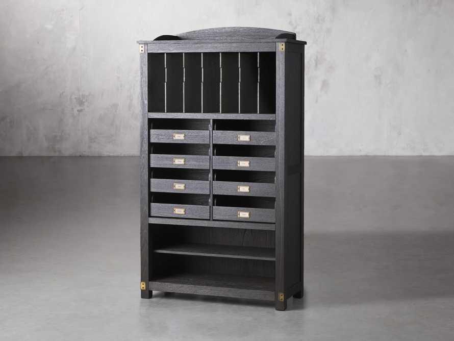 "Telegraph 40"" Wood Storage Cabinet in Ebony, slide 2 of 4"