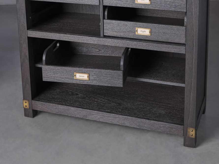 "Telegraph 40"" Wood Storage Cabinet in Ebony, slide 3 of 4"