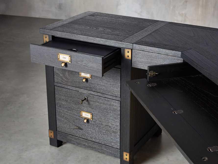 "Telegraph 75.75"" Wood Corner Desk in Ebony, slide 4 of 7"