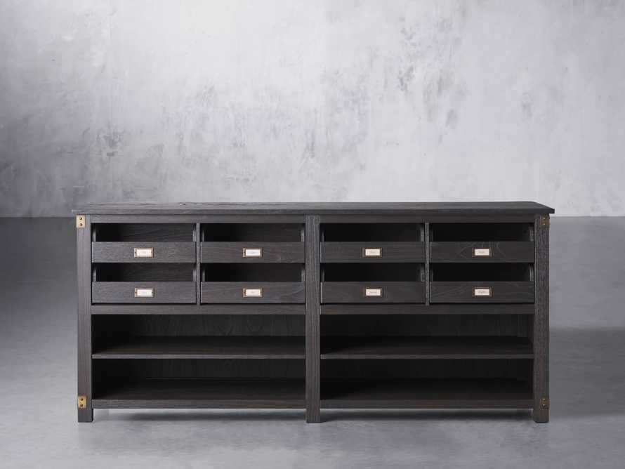 """Telegraph 80.25"""" Wood Lateral Storage Cabinet in Ebony, slide 2 of 5"""
