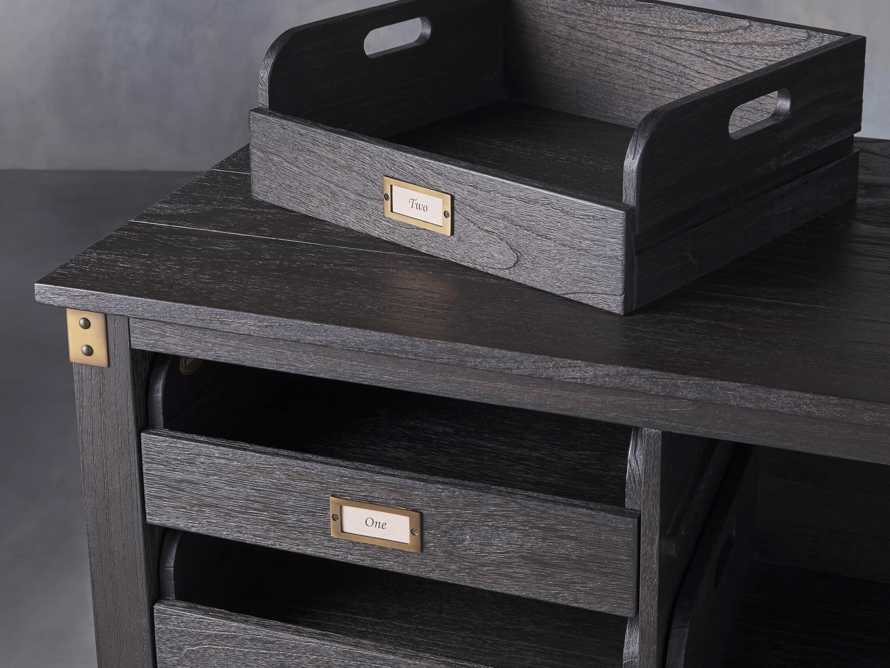 """Telegraph 80.25"""" Wood Lateral Storage Cabinet in Ebony, slide 4 of 5"""
