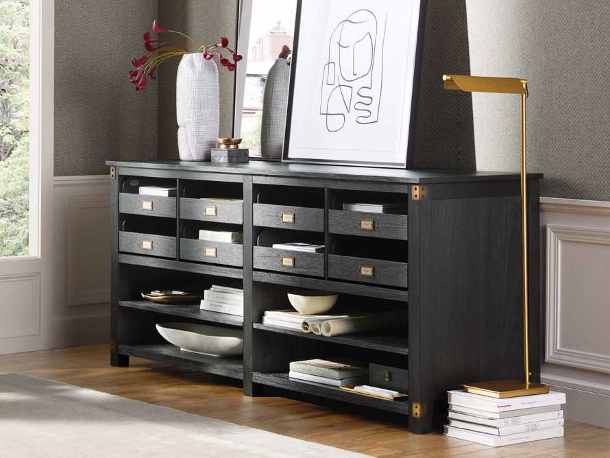 """Telegraph 80.25"""" Wood Lateral Storage Cabinet in Ebony, slide 1 of 5"""