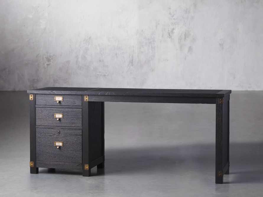 "Telegraph 70.75"" Wood Return Desk in Ebony, slide 2 of 4"