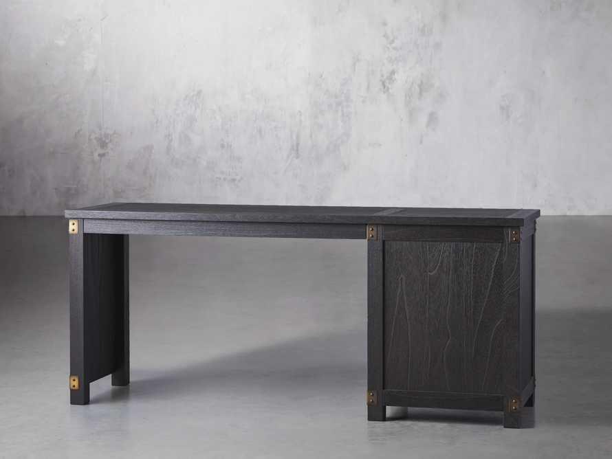 "Telegraph 70.75"" Wood Return Desk in Ebony, slide 3 of 4"