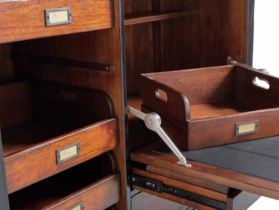 Telegraph Hideaway Desk in Spencer Brown, slide 7 of 7
