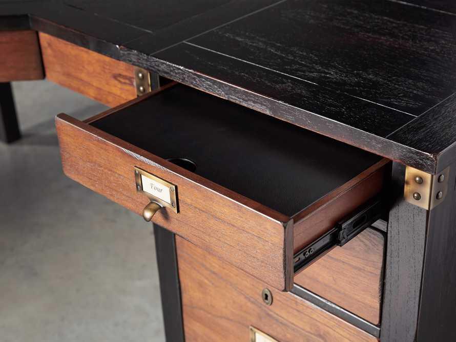 Telegraph Corner Desk in Spencer Brown, slide 6 of 12