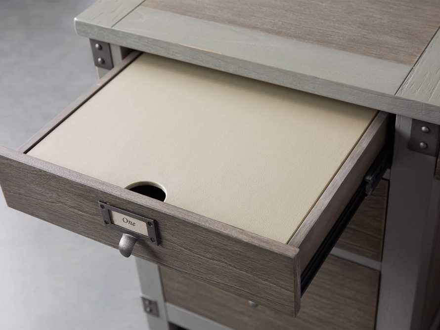 Telegraph Corner Desk in Stratus, slide 5 of 11