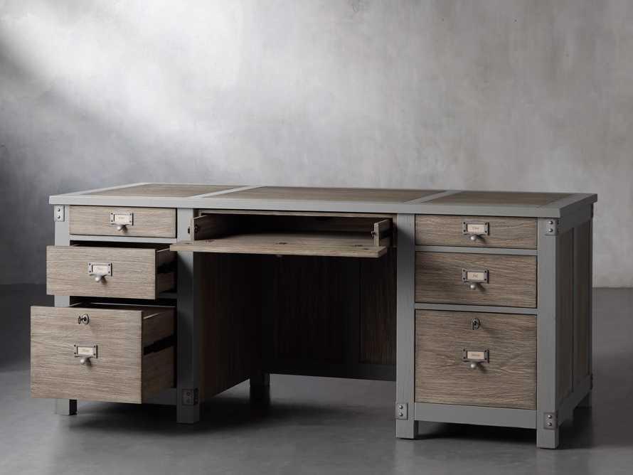 """Telegraph 70"""" Small Desk in Stratus, slide 3 of 14"""