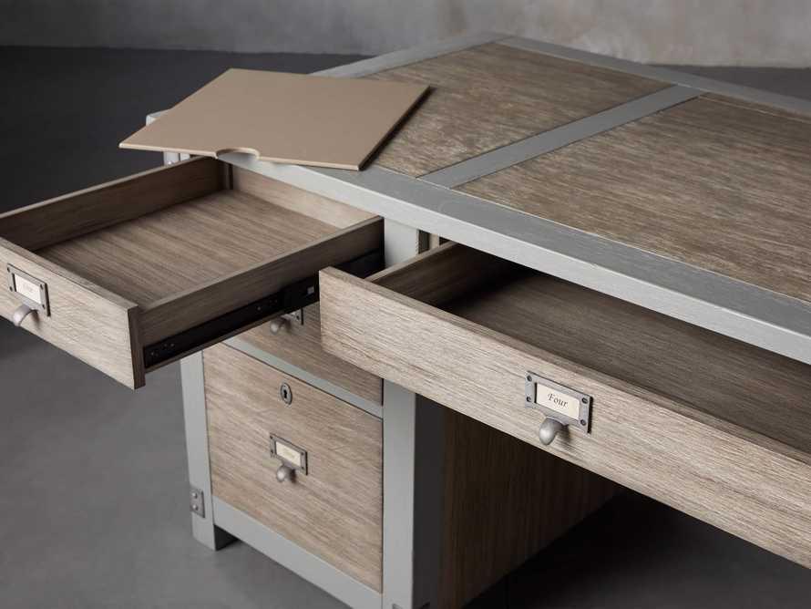 """Telegraph 70"""" Small Desk in Stratus, slide 7 of 14"""