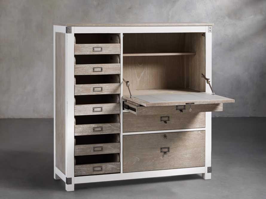Telegraph Computer Cabinet in Acacia White
