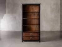 Telegraph Wide Bookcase In Spencer Brown