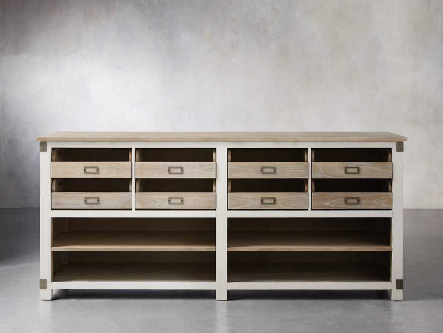 Telegraph Lateral Storage Cabinet in White, slide 2 of 6