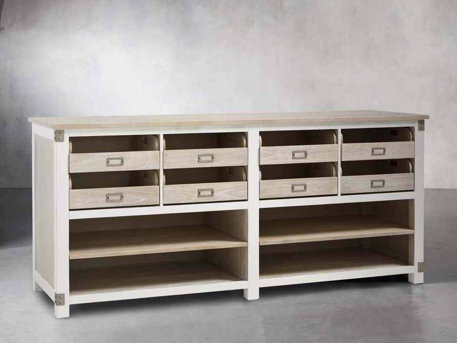 Telegraph Lateral Storage Cabinet in White, slide 3 of 6