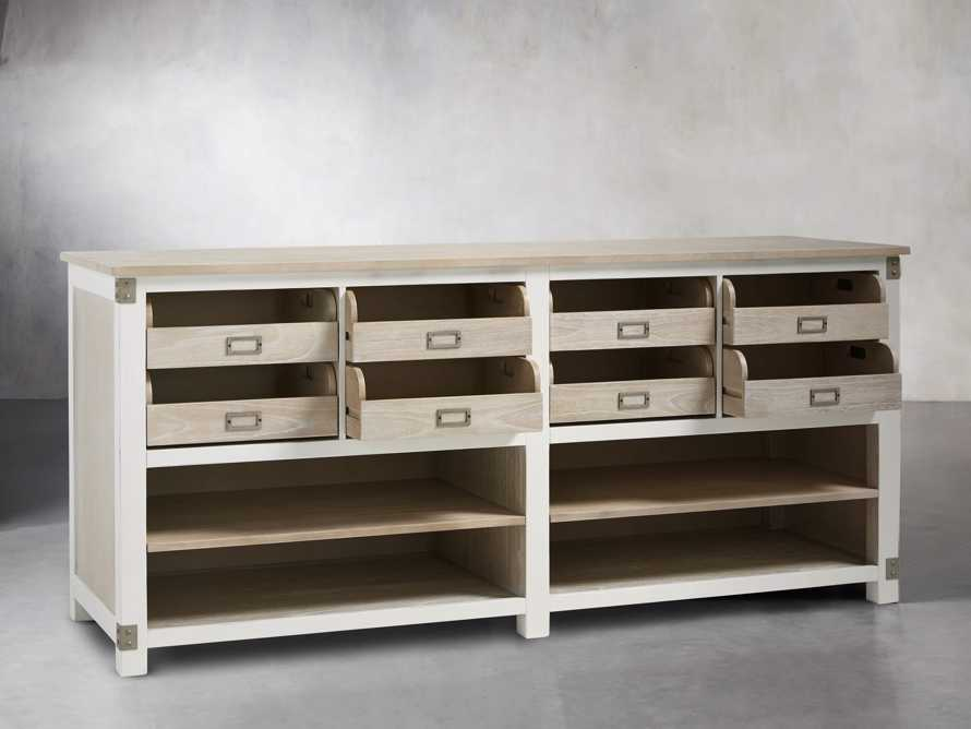 Telegraph Lateral Storage Cabinet in White, slide 4 of 6