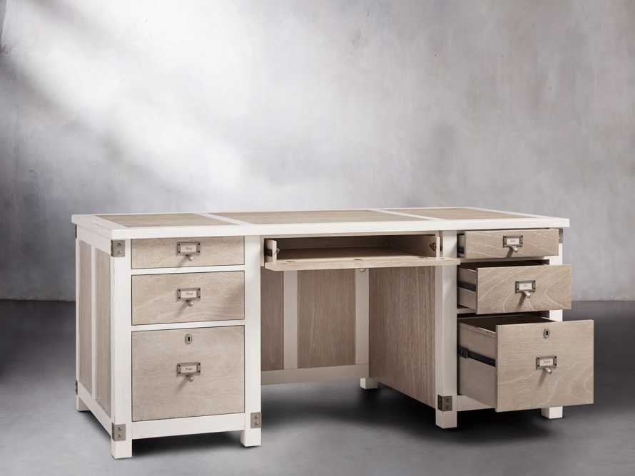 Telegraph Small Desk in Acacia White, slide 3 of 9