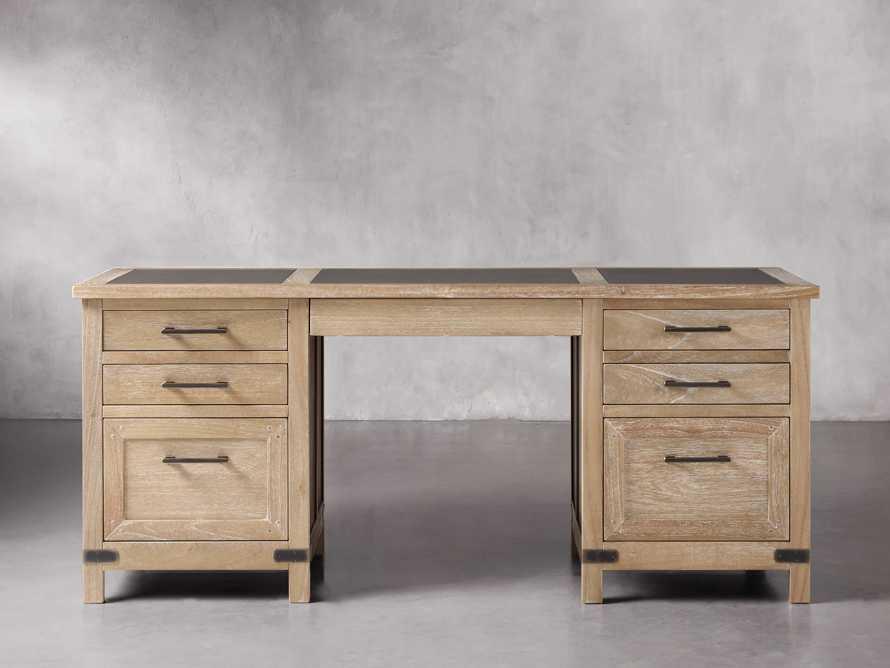 Tremont Executive Desk in Dry Branch Natural, slide 1 of 6