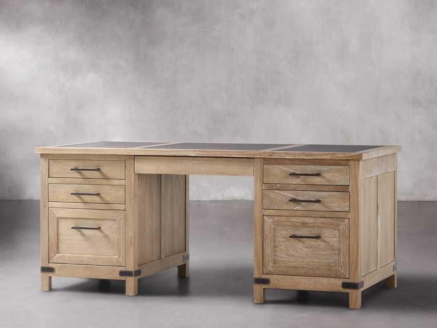 Tremont Executive Desk in Dry Branch Natural, slide 2 of 6