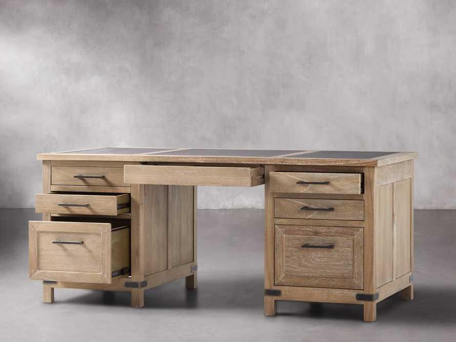 Tremont Executive Desk in Dry Branch Natural, slide 3 of 6