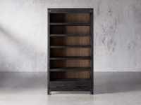 "Tremont 45"" Bookcase In Dry Branch Black"