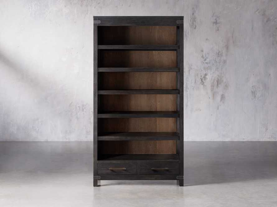 "Tremont 45"" Bookcase In Dry Branch Black, slide 1 of 2"