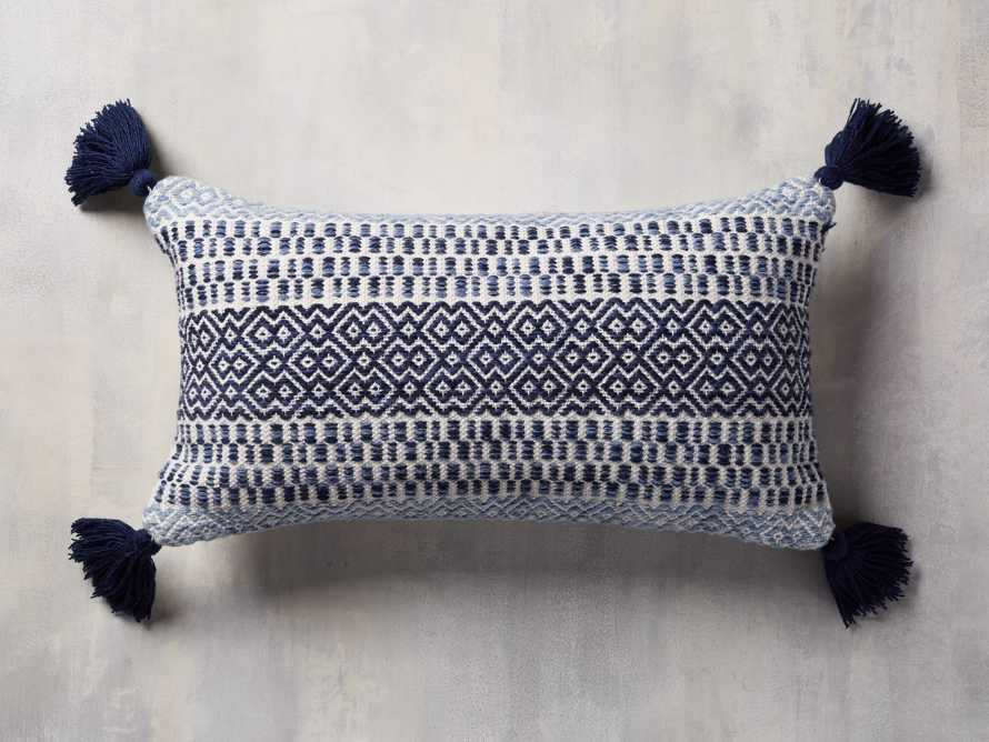 Alix Tassel Outdoor Lumbar Pillow, slide 1 of 8