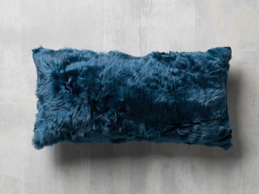 Alpaca Lumbar Pillow in Navy