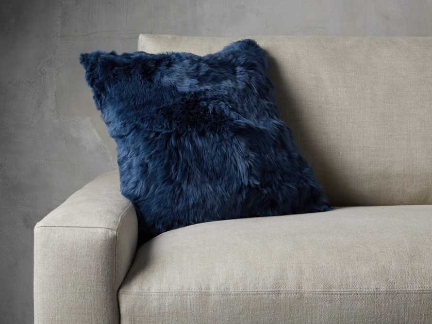 Alpaca Pillow in Navy