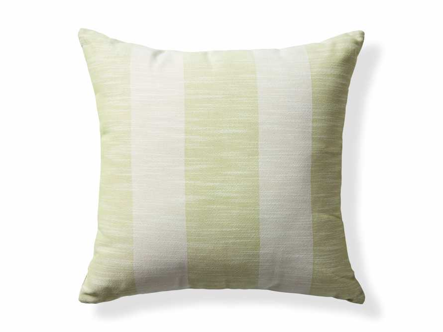 Awning Stripe Pillow in Citron, slide 3 of 3